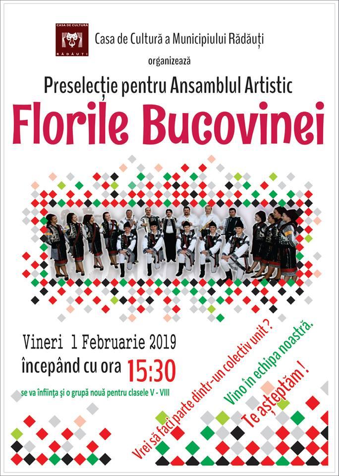Preselectii Ansamblul Folcloric Florile Bucovinei Radauti