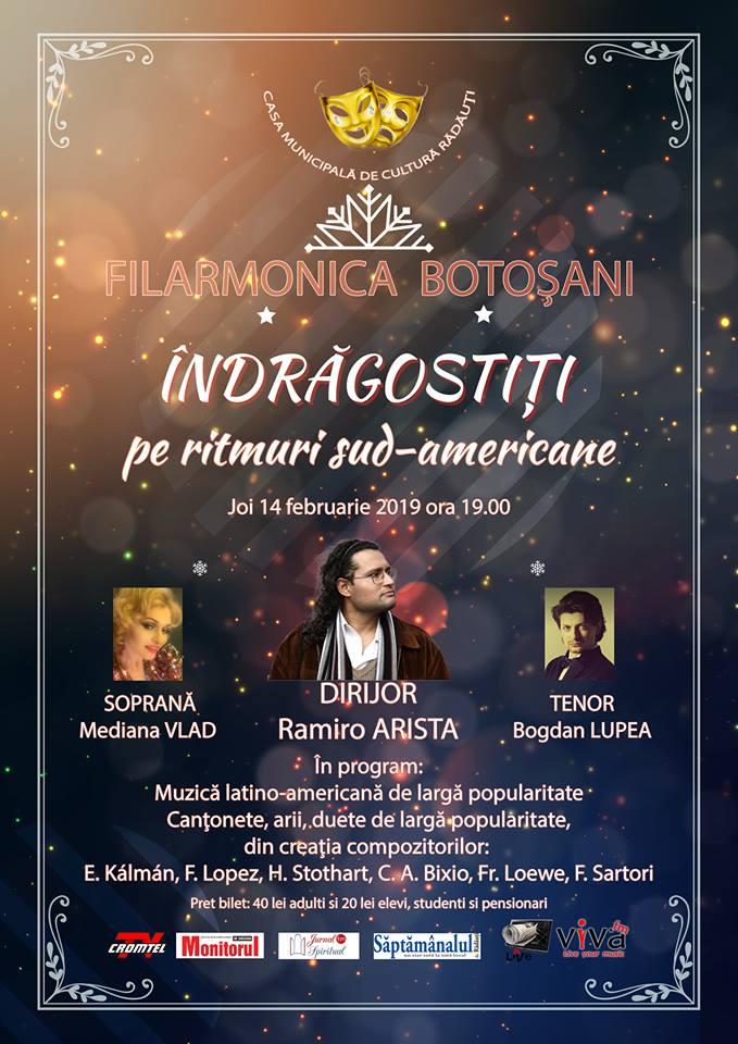 Concert Filarmonica Botosani la Casa de cultura Radauti