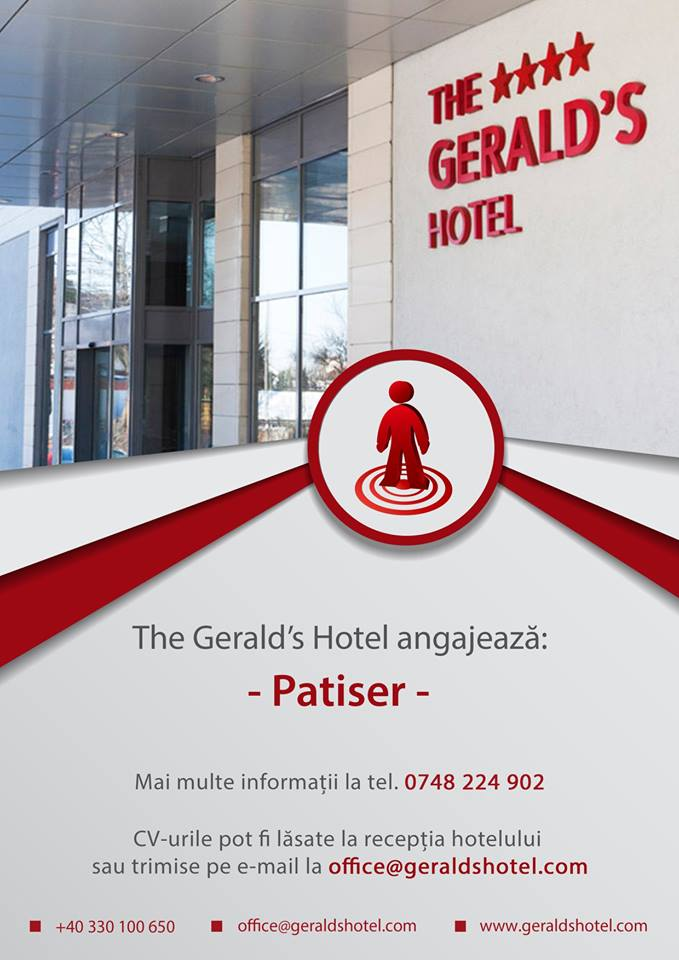 The Geralds Hotel angajeaza Patiser