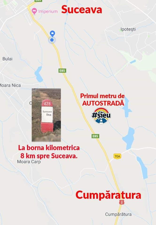 Adresa primul metru de autostrada