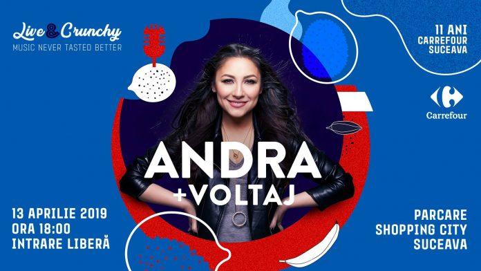Andra și Voltaj cântă la Shopping City Suceava pe 13 Aprilie