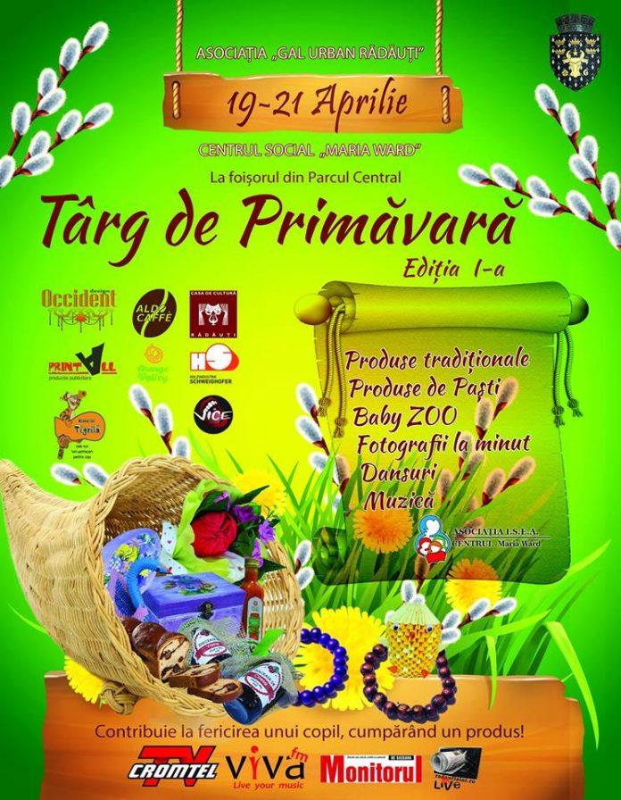 Asociația GAL Urban Rădăuți organizează evenimentul caritabil Târg de Primăvară
