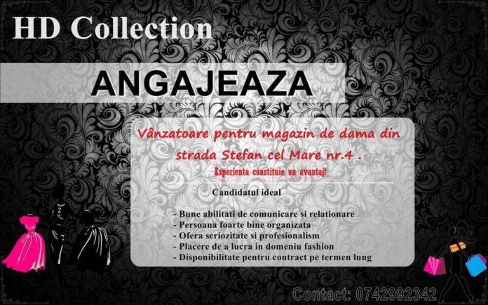 HD Collection Radauti angajeaza vanzatoare