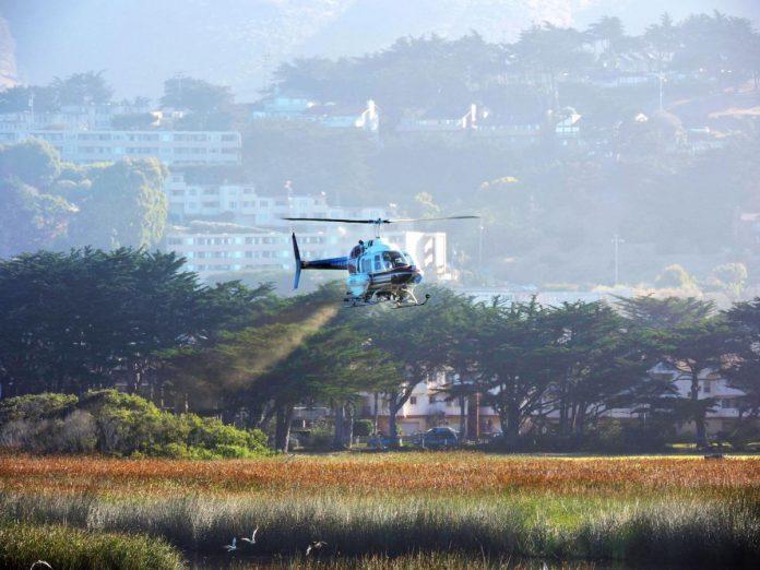 Tratament pentru combaterea tantarilor cu elicopterul