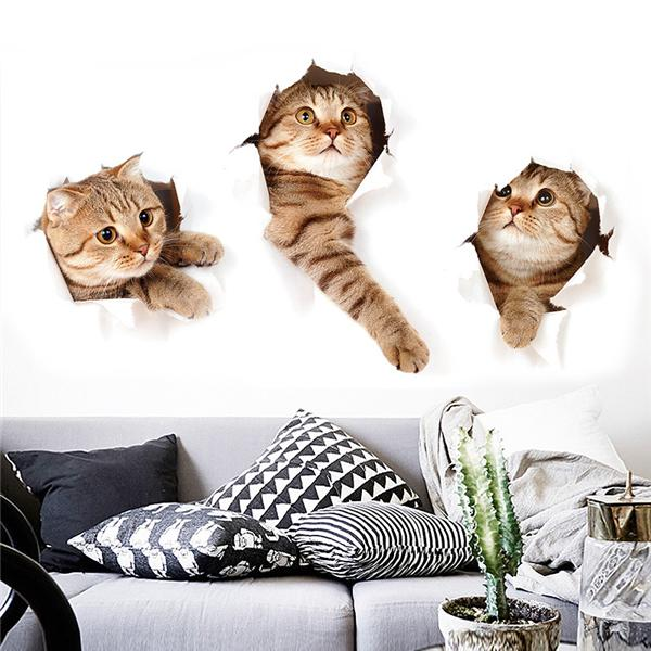 Stickere de perete pisici