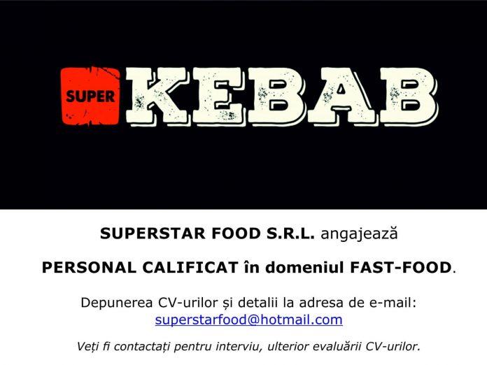 SuperKEBAB angajeaza personal calificat fast food