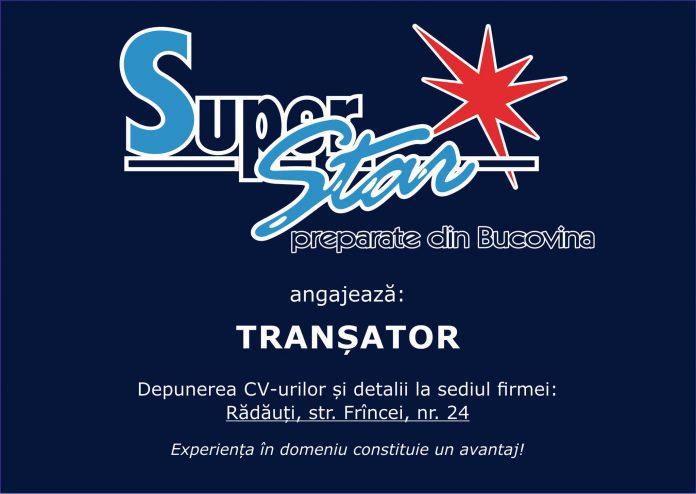 SuperStar angajeaza transator in Radauti