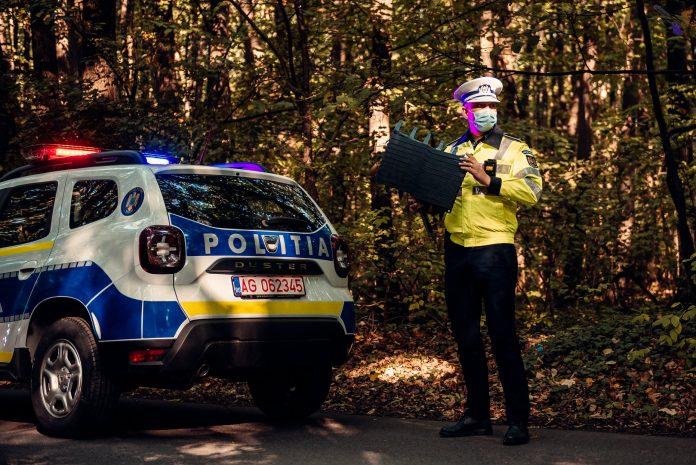 Poliția Română dotată cu un dispozitiv pentru a opri mișcarea mașinilor