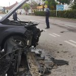 Accident între un Audi Q7 și un VW Passat în această dimineață la Rădăuți (2)