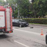 Accident între un Audi Q7 și un VW Passat în această dimineață la Rădăuți (3)