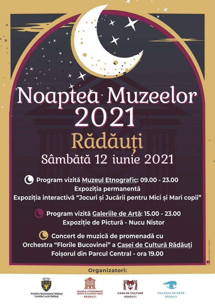 Noaptea Muzeelor 12 Iunie 2021 la Radauti