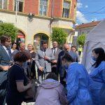 Secretarul de stat în ministerul Sănătății, Andrei Baciu și președintele Consiliului Județean, Gheorghe Flutur în vizită de lucru la Rădăuți 3