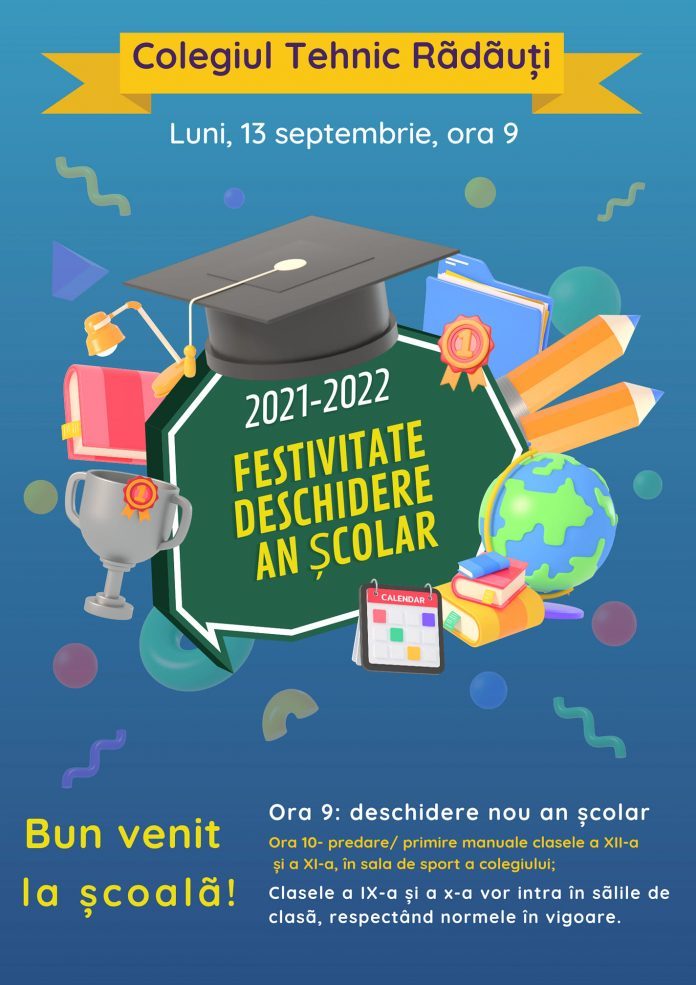 Colegiul Tehnic Radauti - Deschidere an Scolar 2021